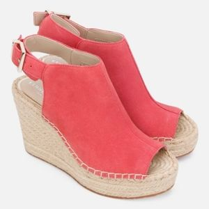 Kenneth Cole Olivia Suede Espadrille Wedges
